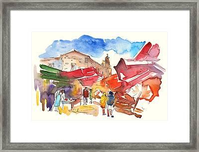 Market In Palermo 01 Framed Print by Miki De Goodaboom