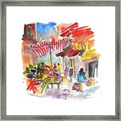 Market In Palermo 04 Framed Print by Miki De Goodaboom