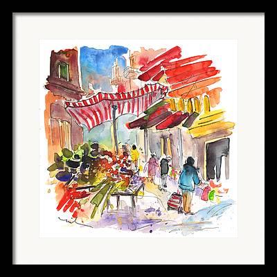 Italian Market Drawings Framed Prints