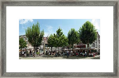 Market Place, Place Du Marche Gayot Framed Print