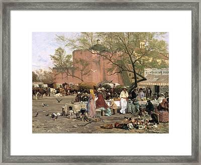 Market Plaza Framed Print by Thomas Allen