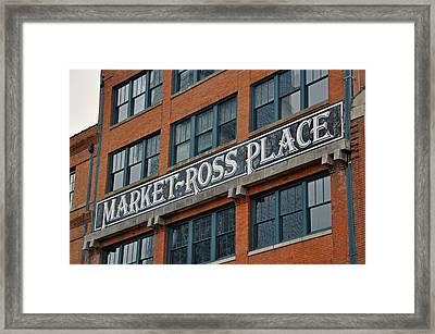 Market Ross Place Dallas Texas Framed Print