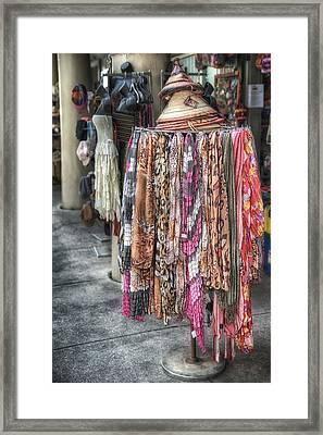 Market Scarves Framed Print by Brenda Bryant