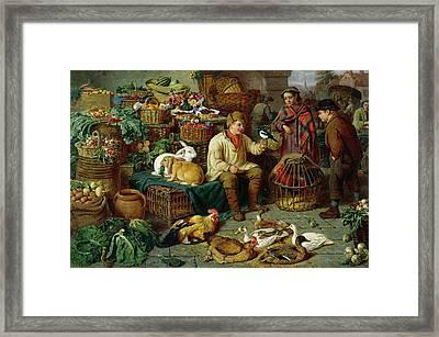 Market Scene Framed Print by Henry Charles Bryant