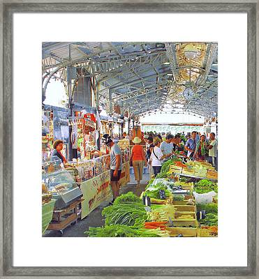 Market Scene In Antibes France Framed Print by Ben and Raisa Gertsberg