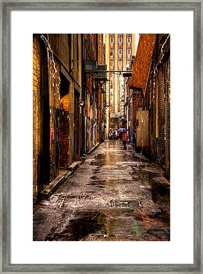 Market Square Alleyway - Knoxville Tennessee Framed Print by David Patterson