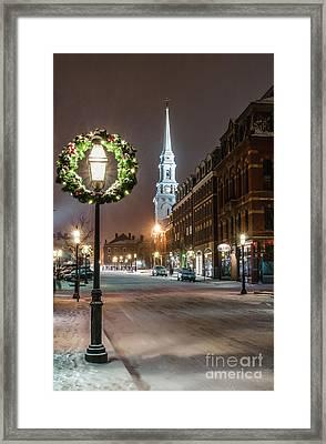 Market Square Christmas Framed Print by Scott Thorp