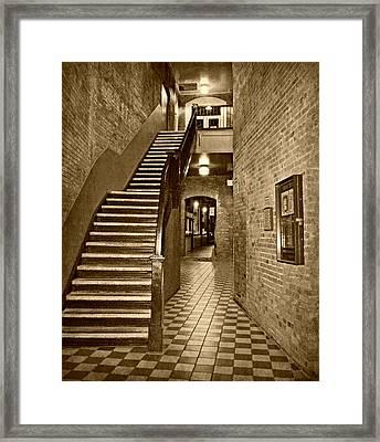 Market Square - Sepia 2 Framed Print