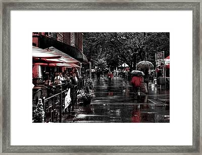Market Square Shoppers - Knoxville Tennessee Framed Print by David Patterson