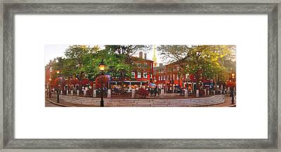 Market Square Summer - 2013 Framed Print