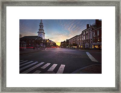 Market Square Sunset Framed Print by Eric Gendron