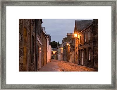 Market Street At Dusk Framed Print