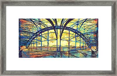 Market Street Bridge Arch Framed Print by Steven Llorca