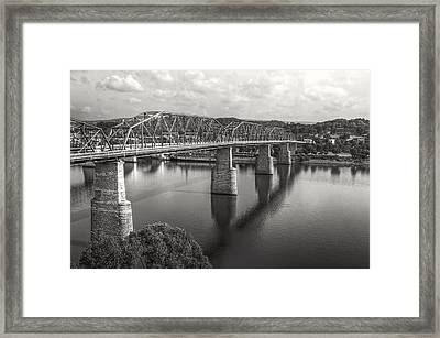 Market Street Bridge Black And White Framed Print by Gregory Cook