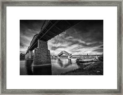 Market Street Bridge Opening Framed Print