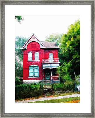 Framed Print featuring the painting Market Street by Dave Luebbert
