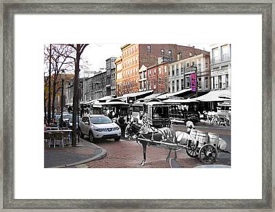 Market Street In Old City Framed Print