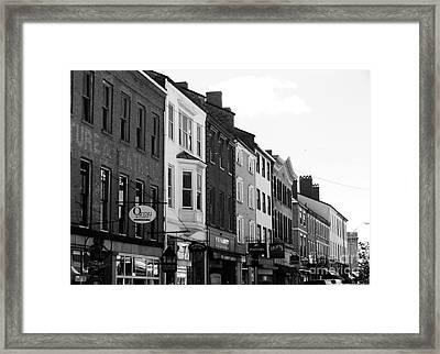Market Street Framed Print by Kevin Fortier