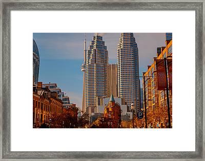 Market Town Toronto Framed Print