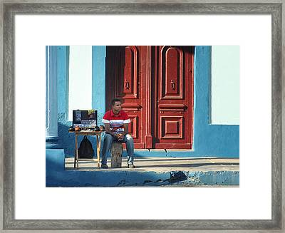 Market Trends.. Framed Print by A Rey