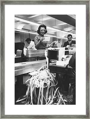 Marketing Department At Merrill Lynch Framed Print