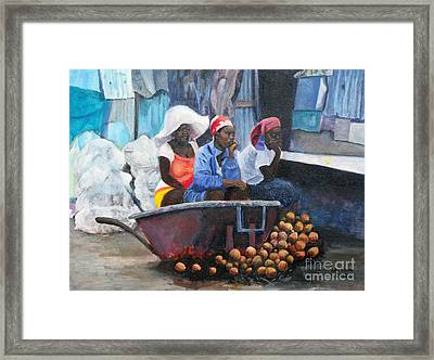 Marketplace Framed Print