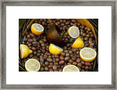 Marketplaces - Closeup Of A Basket Framed Print