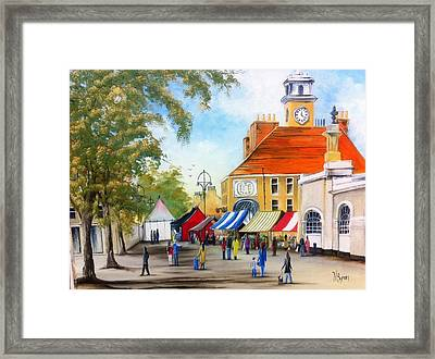 Markets On High Street Framed Print