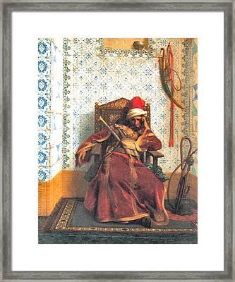 Markos Botsaris Framed Print by Jean Leon Gerome