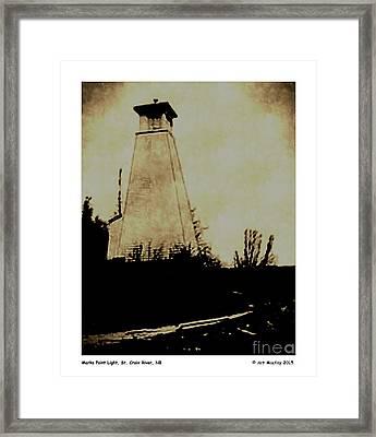 Marks Point Light St Croix River Nb Framed Print by Art  MacKay