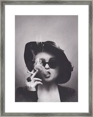 Marla Singer Framed Print by Brittni DeWeese