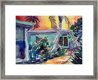Marla's Beach House Framed Print