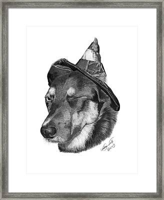Marlee In Witch's Hat -021 Framed Print by Abbey Noelle