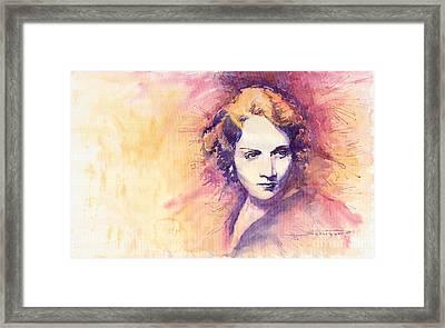 Marlen Dietrich 1 Framed Print by Yuriy  Shevchuk