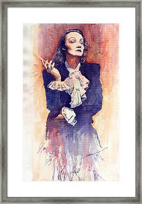 Marlen Dietrich  Framed Print by Yuriy  Shevchuk