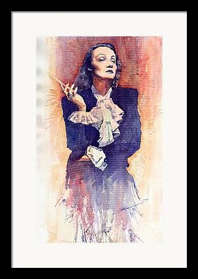 Marlen Dietrich Framed Prints