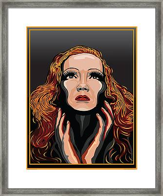 Marlene Dietrich Hollywood The Golden Age Framed Print by Larry Butterworth