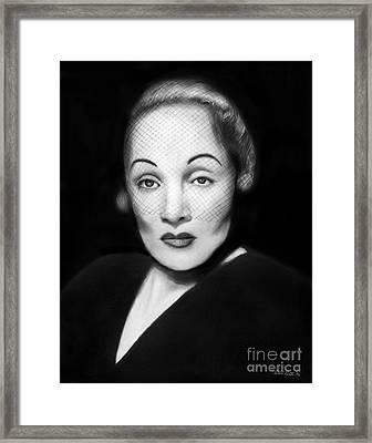 Marlene Dietrich Framed Print by Peter Piatt