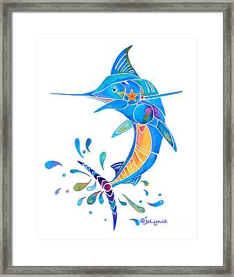 Marlin Dance Of Color Framed Print by Jo Lynch
