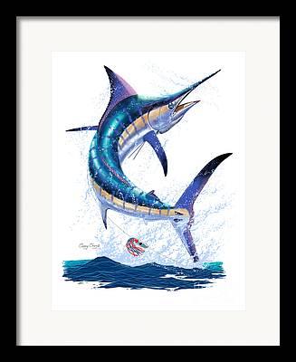 Marlin Azul Digital Art Framed Prints