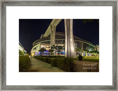 Marlins Park Stadium Miami 3 Framed Print by Rene Triay Photography