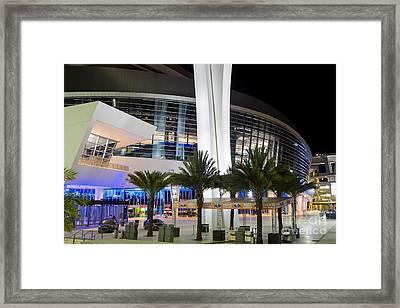 Marlins Park Stadium Miami 5 Framed Print by Rene Triay Photography