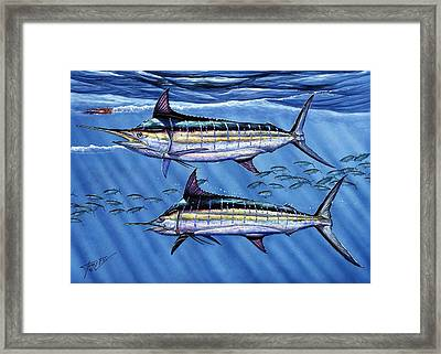 Marlins Twins Framed Print