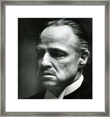 Marlon Brando Close Up Framed Print by Retro Images Archive