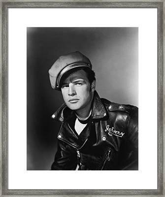 Marlon Brando In The Wild One 1953 Framed Print by Mountain Dreams