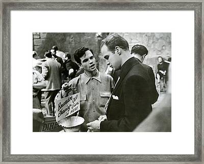 Marlon Brando Off Set Framed Print by Retro Images Archive