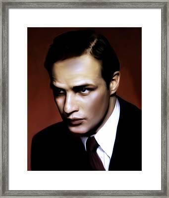Marlon Brando Tribute Framed Print