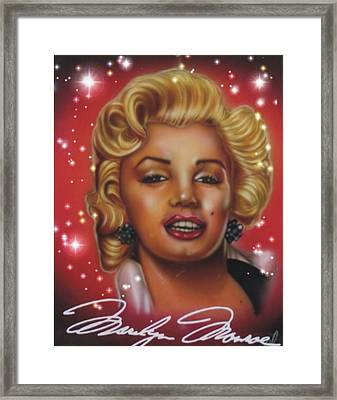 Marlyn Monroe Framed Print by Christopher Fresquez