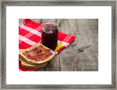 Marmalade Sandwich Framed Print by Aged Pixel
