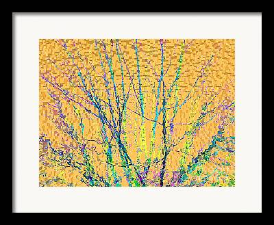 Extruded Paint Framed Prints